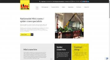 Lift Mini Crane Hire | Mini Crane Hire | Spider Crane Hire | Contract Lifting