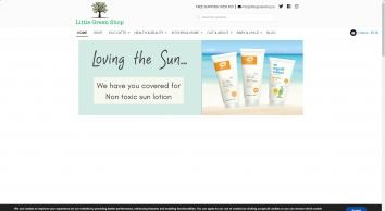Homepage - Little Green Shop - Eco friendly, organic, vegan & plastic free products