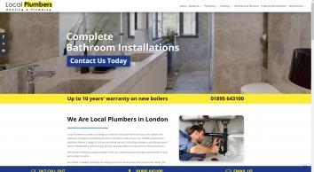 Local Plumbers London - 1 Hour Emergency Call Out 24/7
