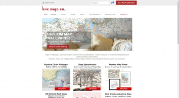 Wall maps, canvas maps and poster maps for home and business from Love Maps On
