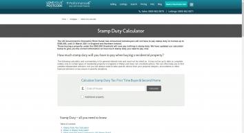 Stamp Duty Tax Calculator   Love Your Postcode™