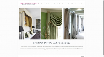 Hand-made curtains, blinds and upholstery for all of your interior design needs