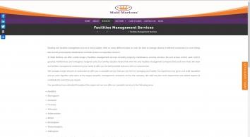 Facilities Management Services   Maid Marions Ltd