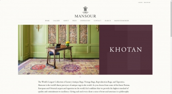 Mansour Fine Rugs: Tapestries, Mid-Century Carpets, Revival, Vintage