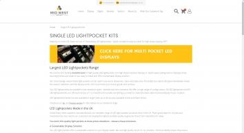 LED Light Pocket Kits Manufacturer UK – Mid West Displays