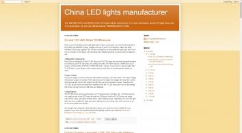 China LED lights manufacturer