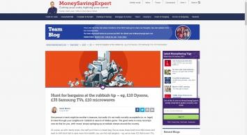 Hunt for bargains at the rubbish tip - eg, £10 Dysons, £35 Samsung TVs, £10 microwaves - MoneySavingExpert.com Team Blog