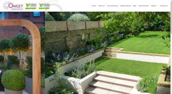 Oakley Landscapes: Gardening and landscaping company based in London UK, Garden Design and Construction, landscape gardener London, Surrey, landscaping, decking, turfing, flower beds, paths, patios, water features