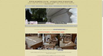 WWW.OLDPINE.CO.UK ~ suppliers of all types of old, antique, hand waxed and painted Pine Furniture