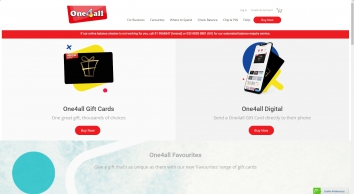 One4all - The Multi-Store Gift Card