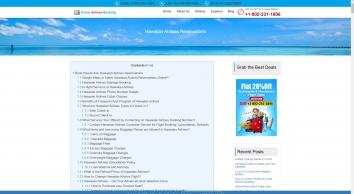 Hawaiian Airlines Reservations +1-8OO-962-1798 Flights Booking