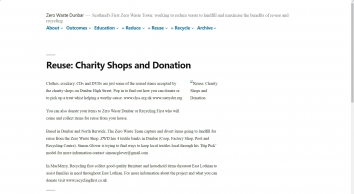 Reuse: Charity Shops and Donation – Zero Waste Dunbar