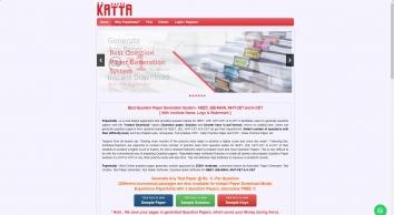 online question paper generator