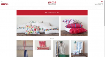 Vintage Linen - Fabric Embroidery – Upholstery Fabric | Parna