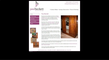 Furniture restoration & commissions by Paul Beckett near Thame, Oxford