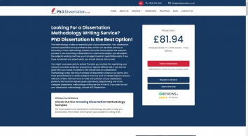 Dissertation Methodology Help Service UK | Dissertation Writing Help
