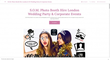 S.O.M. Photo Booth Hire London & UK Wedding Party & Corporate Events - S.O.M. Photo Booth Hire London events photography service wedding party & corporate photo booths for hire in Croydon Surrey London & UK.