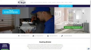 Plumbers & Heating Engineers in Bristol & Weston | PJ Bryer