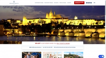Prague Boats - a large variety of river cruises on the Vltava river in Prague   Prague-Boats.cz