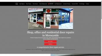 Aluminium shop door repairs in Liverpool - Premier Property Services