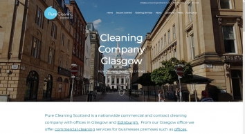 Cleaning Company Glasgow | Cleaners Glasgow | Pure Cleaning Scotland