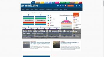 pv magazine International – Photovoltaic Markets and Technology