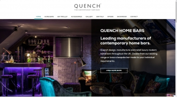 Home Bars By Quench UK - Modern contemporary home bars & homebar accessories. Wide range of home bars available to order.