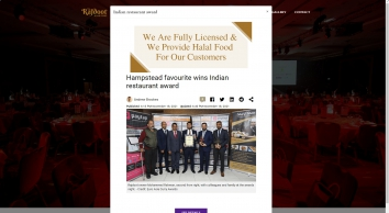The Rajdoot | Indian Restaurant & Takeaway in Hampstead, London
