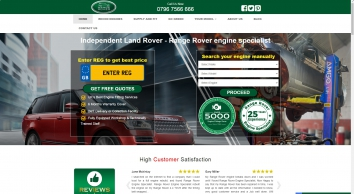 Land Rover & Range Rover replacement engines, gearboxes & ancillaries
