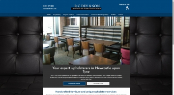 R.C. Dey & Son Upholsterers, furniture upholstery, Newcastle upon Tyne