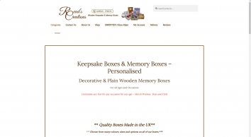 Personalised Wooden Keepsake Boxes & Memory Boxes - Read\'s Creations