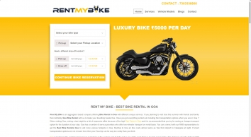 Rent A Bike in Goa with RMB
