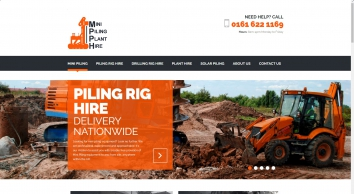 Mini Piling Plant Hire | Piling Rig, Drilling Rig and Plant Hire Specialists