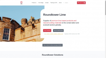Natural Hydraulic Lime mortars and plasters by RoundTower Lime