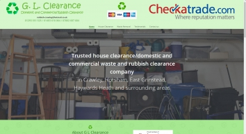 Rubbish clearance in Crawley and Horsham | G.L. Clearance