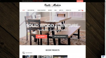 Rustic + Modern Handcrafted Furniture