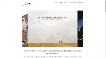 Sam Gibson Wedding Photography Bristol