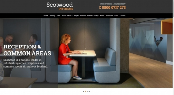 Office Interiors | Office Refurbishments | Glasgow, Edinburgh, Scotland | Scotwood Interiors