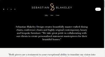 Bespoke Luxury Furniture and Luxurious Dining Chairs | Sebastian Blakeley Designs