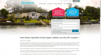 Park Homes Specialist Estate Agent, Seekers are the UK\'s number 1