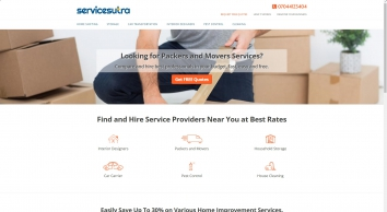 ServiceSutra - Packing, Moving, Storage and Home Improvement