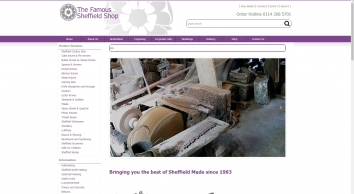Sheffield Made Goods available in the Famous Sheffield Shop online store.