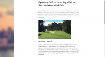 Shortlands Golf Club - A premier nine hole golf course - Home