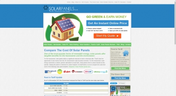 Solar Panels, Compare The Cost Of Solar PV Panels