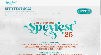 Speyfest 2018 - 27th - 29th July 2018 - The Best In Traditional and Contemporary Celtic Music