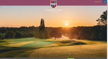 Sundridge Park Golf Club, a beautiful 36-hole golf course located just seven miles from the heart of South London