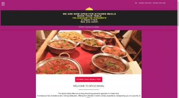 Spice Mahal - Indian Restaurant & Takeaway
