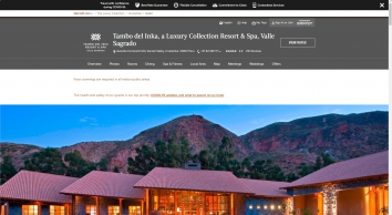 Tambo del Inka, a Luxury Collection Resort & Spa, Valle Sagrado - Urubamba | SPG