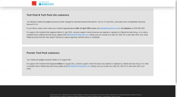 Barclays Mobile Phone & Gadget Insurance - by Lifestyle Services Group