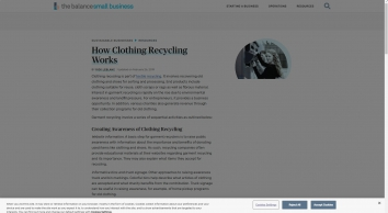 How Clothing Recycling Works - The Balance Small Business